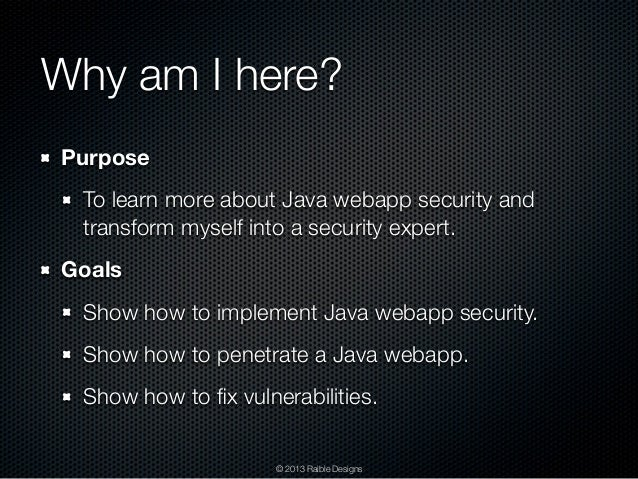 how to provide security to web application java