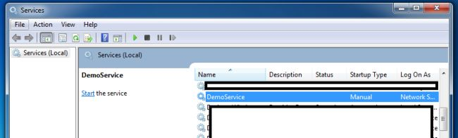 how to use windows service in c# windows application