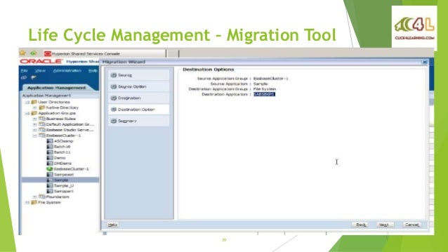 hyperion planning application migration using lcm