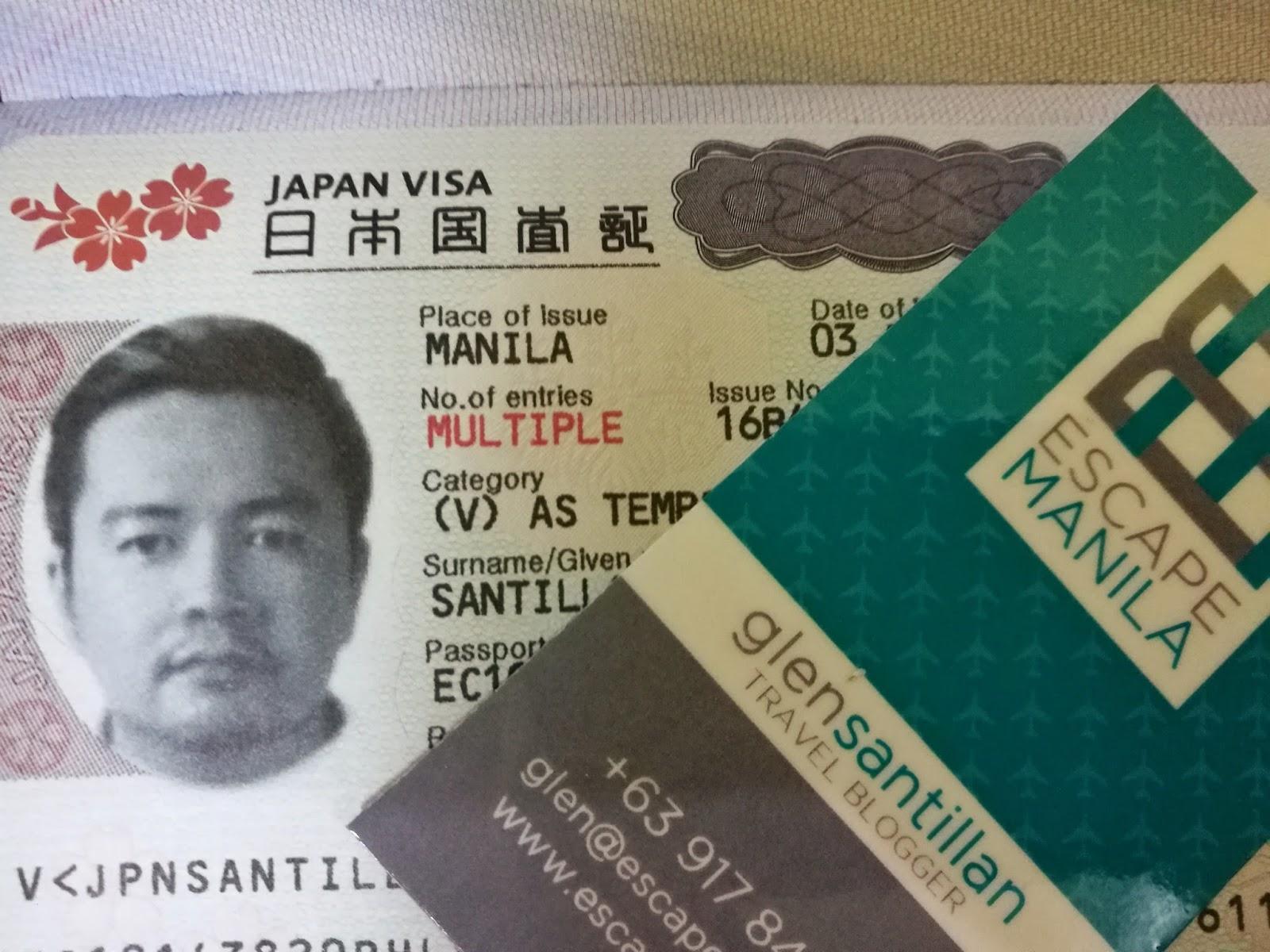 japanese embassy manila visa application