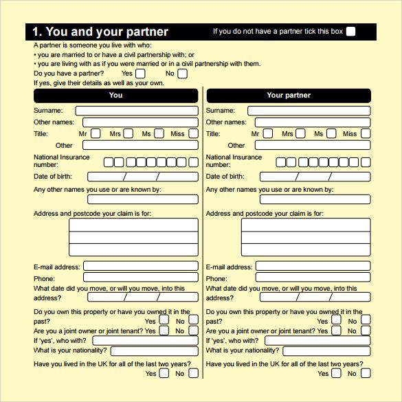 job seekers allowance application form