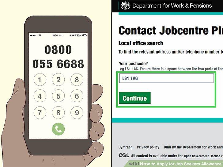 job seekers allowance online application