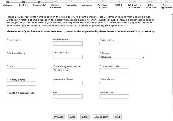 kmart com careers application form