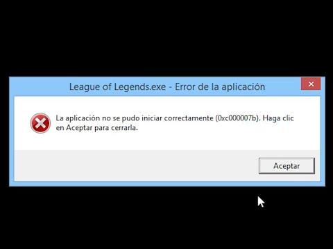 league of legends application error 0xc00007b
