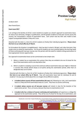 leave application letter for exam