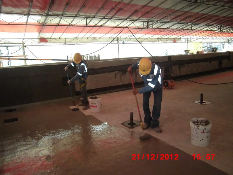 method statement for waterproofing application