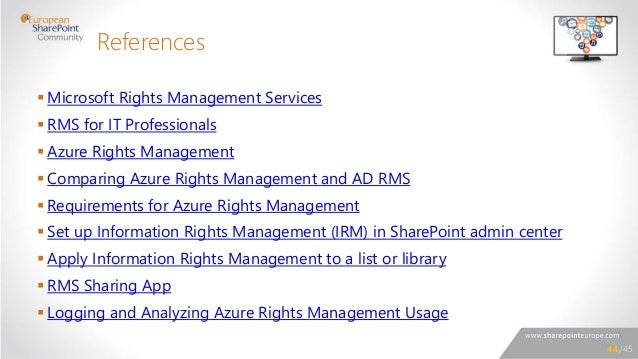 microsoft rights management sharing application