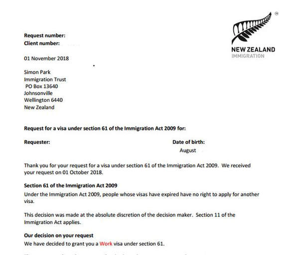 new zealand work visa application fee