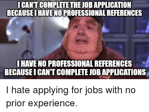 no references for job application