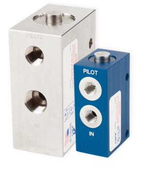 pilot operated check valve application