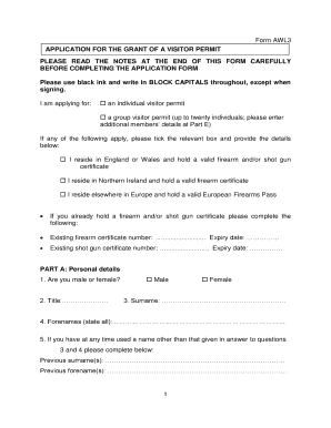 police certificate application form ireland
