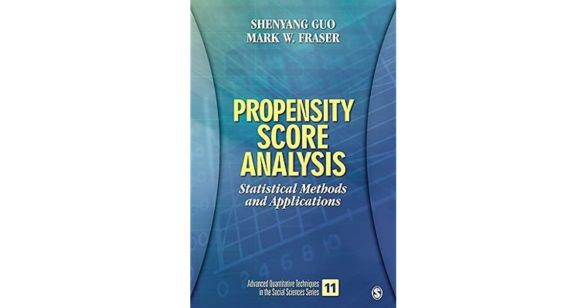 propensity score analysis statistical methods and applications pdf