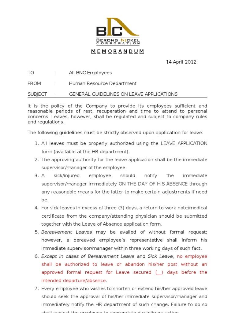reminder mail for leave application
