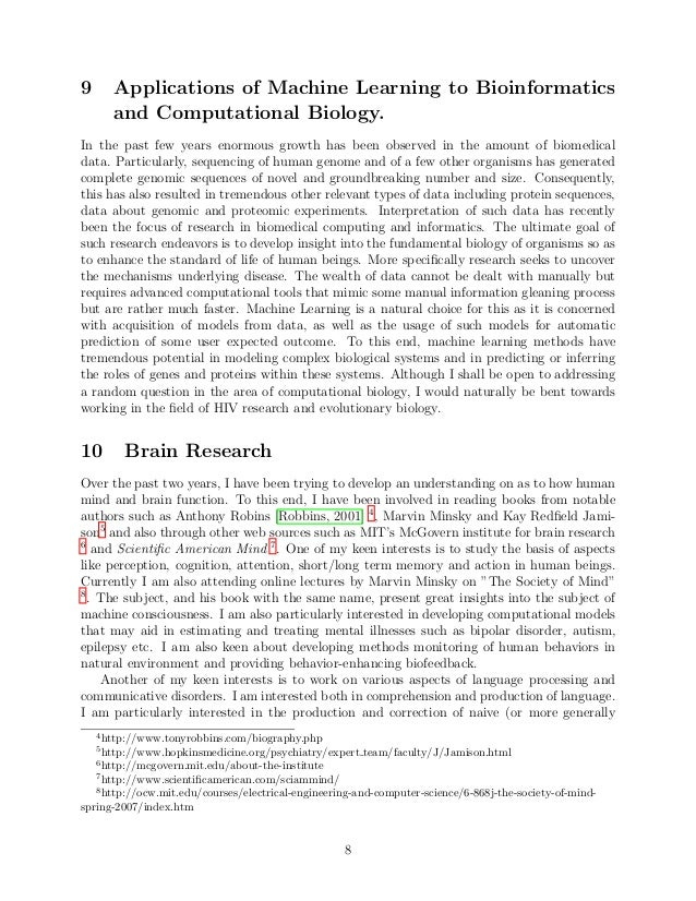 research interest statement sample for phd application