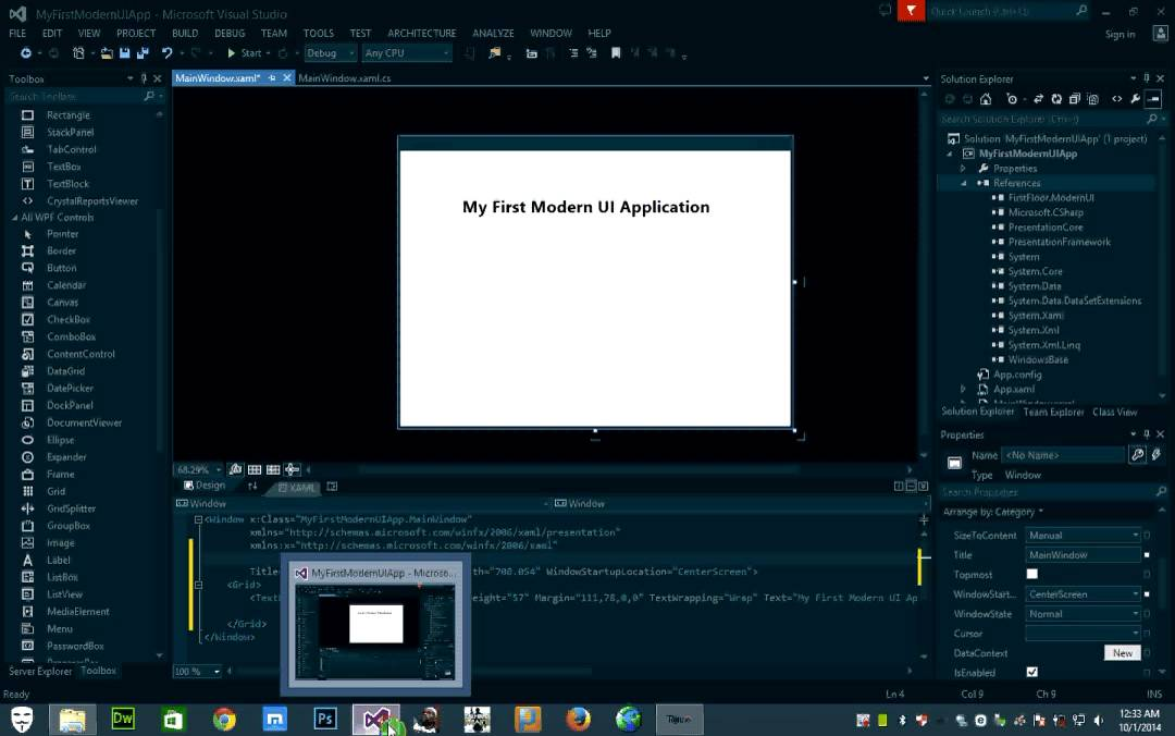 sample wpf application in c#