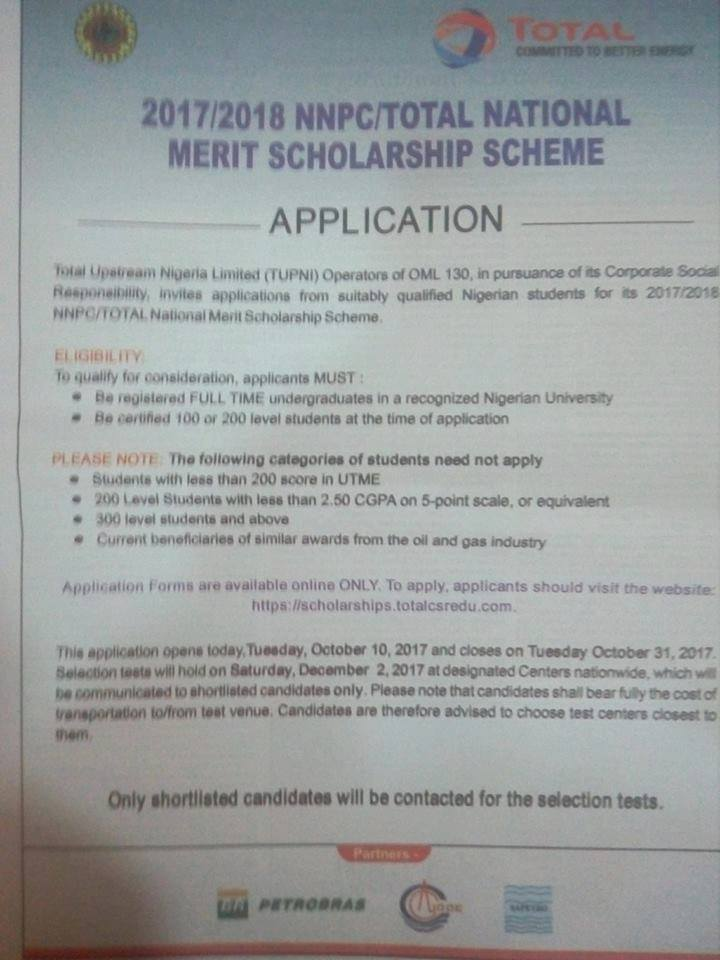 shell scholarship 2017 application form