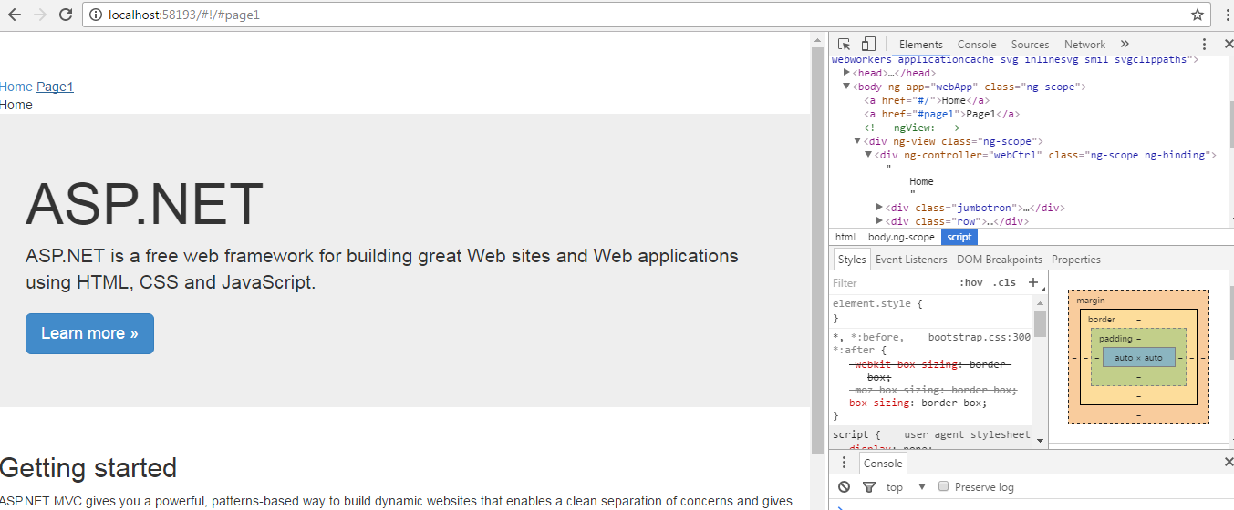 this application is not an angular application