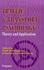 traffic and transport psychology theory and application