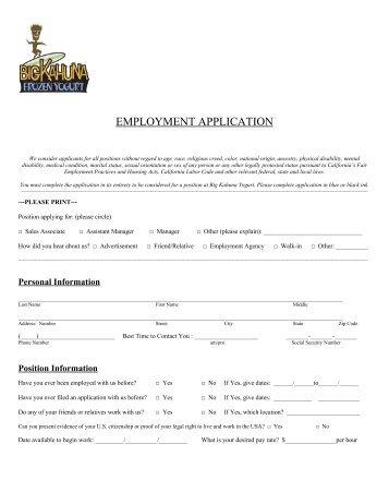 tutti frutti job application form