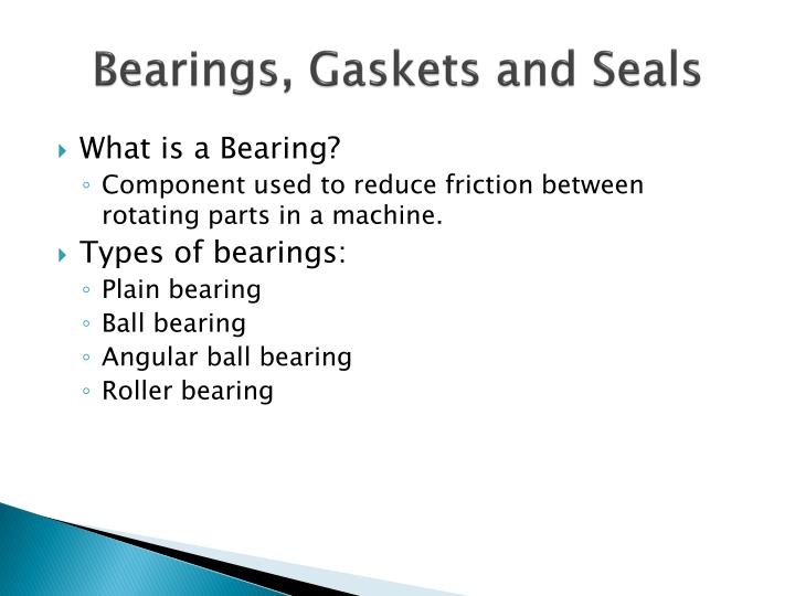 types of bearings and applications ppt