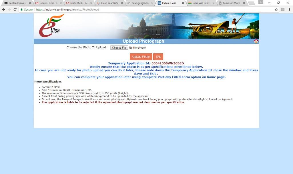 uk visa online application india