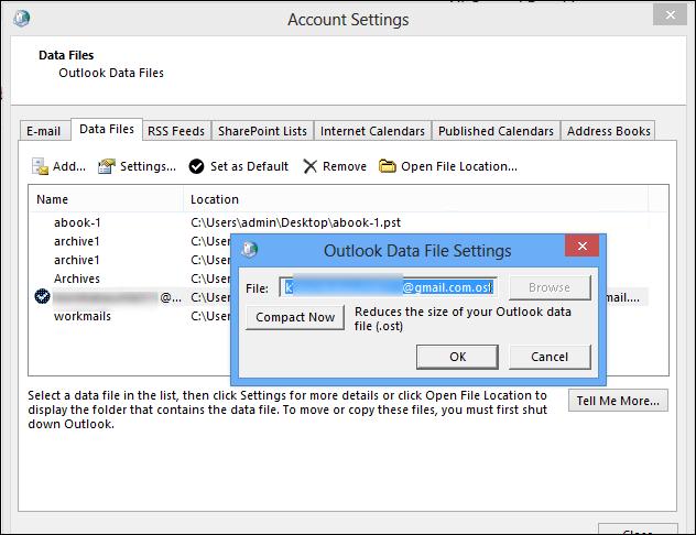 userprofile local settings application data microsoft outlook