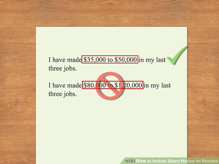 what to write on application for salary desired