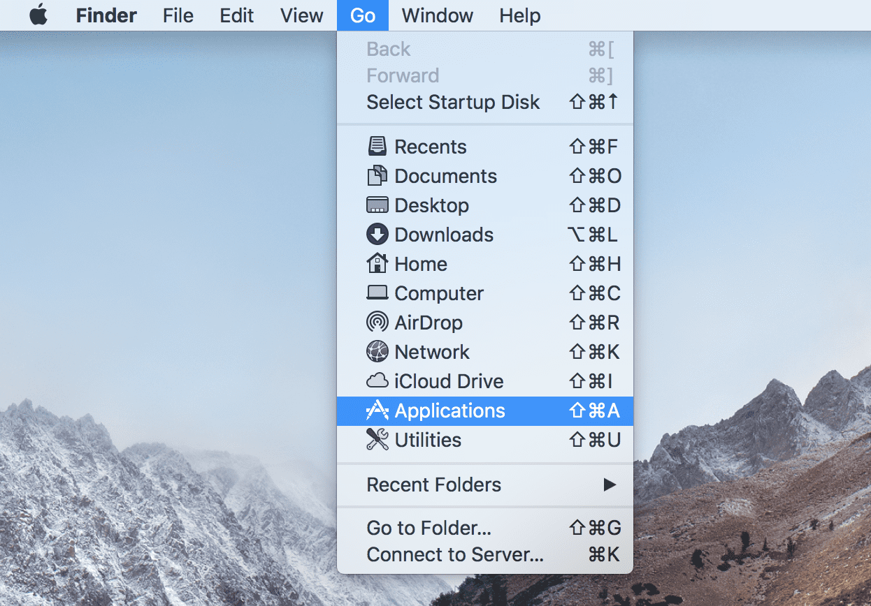 where is the applications folder on my mac