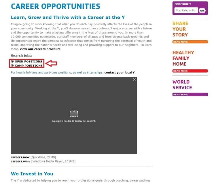 ymca job application form online